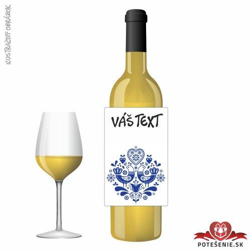 Narodeninové darčekové víno, motív 161 - Darčekové víno na oslavu