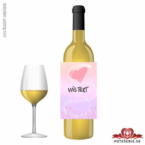 Valentínske darčekové víno, motív V026