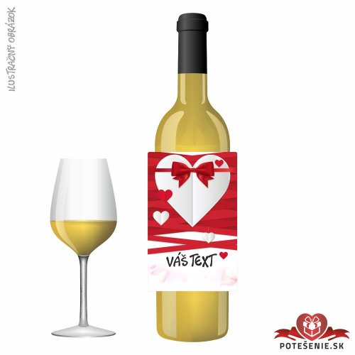 Valentínske darčekové víno, motív V025