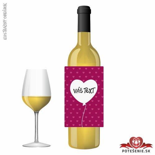 Valentínske darčekové víno, motív V017
