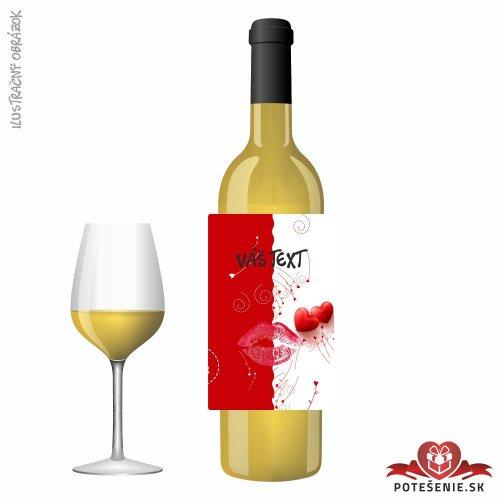 Valentínske darčekové víno, motív V015