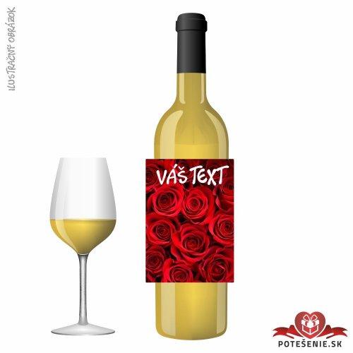 Valentínske darčekové víno, motív V009
