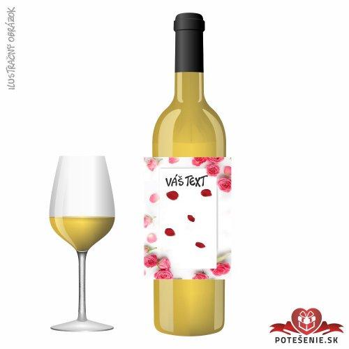 Valentínske darčekové víno, motív V006