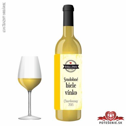 Svadobné víno pre hostí, motív S478 - Svadobné víno