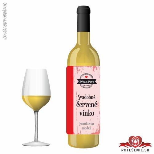 Svadobné víno pre hostí, motív S479
