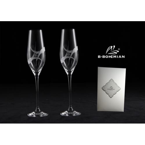 Pohár na šampanské GALAXY 210 ml flauta 2 ks, Swarovski Elements