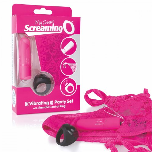 MySecret Screaming Pant - vibračné nohavičky na diaľkové ovládanie (ružové)