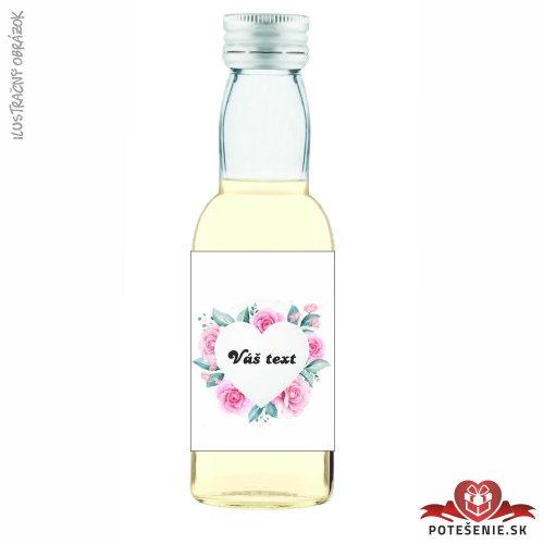 Svadobné mini fľaštičky pre hostí, motív S239