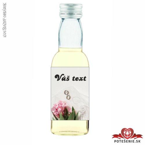 Svadobné mini fľaštičky pre hostí, motív S244
