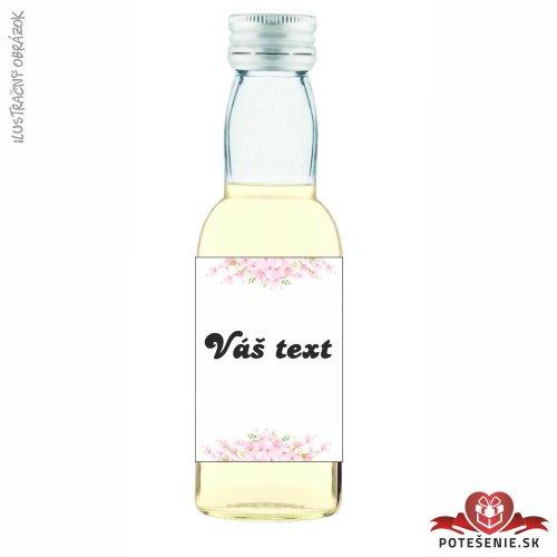 Svadobné mini fľaštičky pre hostí, motív S251