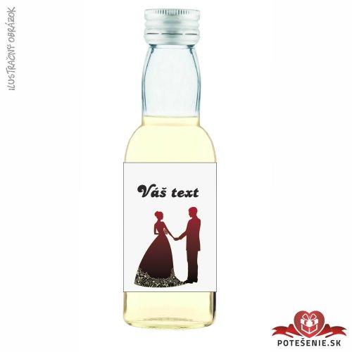 Svadobné mini fľaštičky pre hostí, motív S325