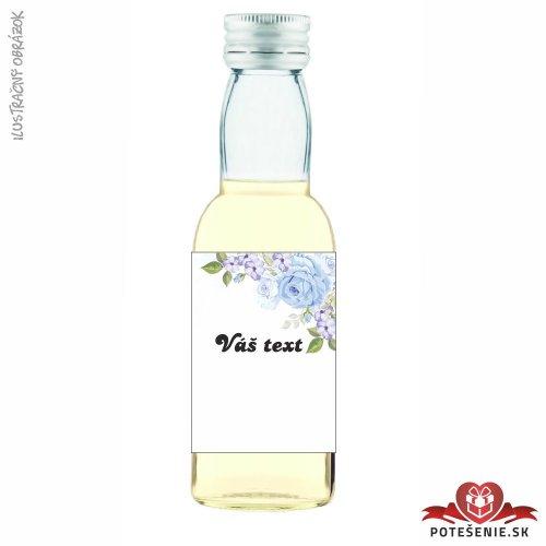 Svadobné mini fľaštičky pre hostí, motív S403