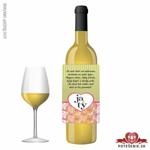 Svadobné víno pre hostí, motív S480