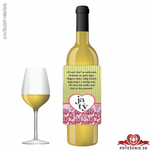 Svadobné víno pre hostí, motív S481