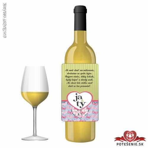 Svadobné víno pre hostí, motív S482