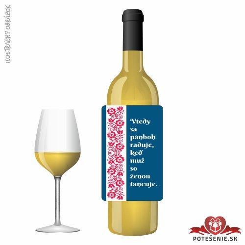 Svadobné víno pre hostí, motív S488