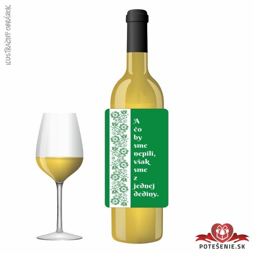 Svadobné víno pre hostí, motív S489