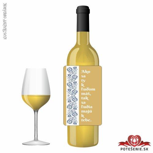 Svadobné víno pre hostí, motív S490