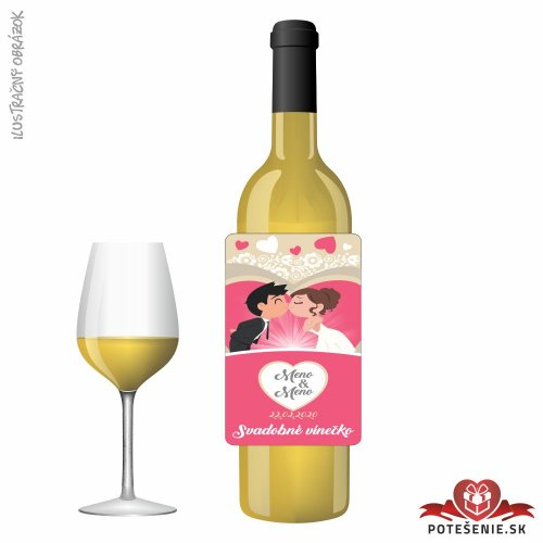Svadobné víno pre hostí, motív S492