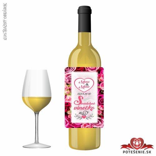 Svadobné víno pre hostí, motív S493