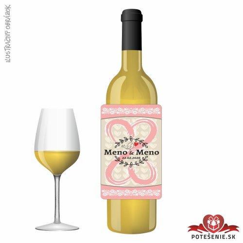 Svadobné víno pre hostí, motív S494