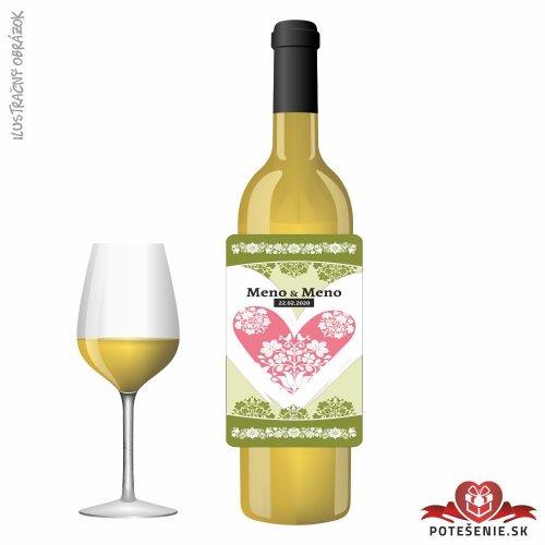 Svadobné víno pre hostí, motív S495