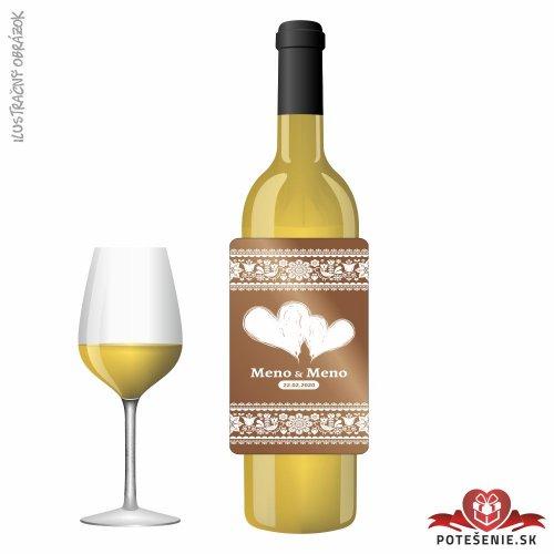Svadobné víno pre hostí, motív S496