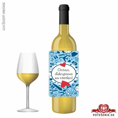 Svadobné víno pre hostí, motív S500