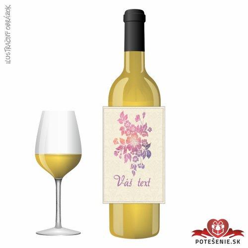 Svadobné víno pre hostí, motív S502