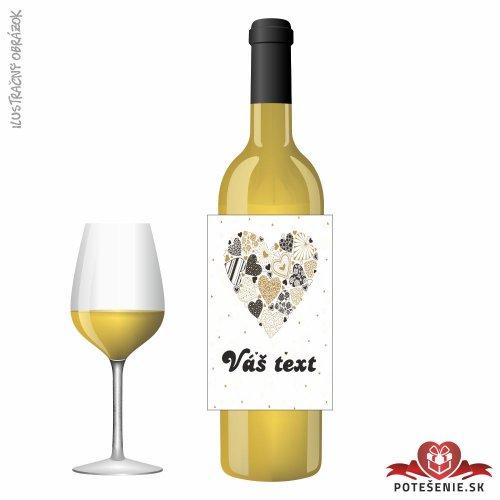 Svadobné víno pre hostí, motív S505