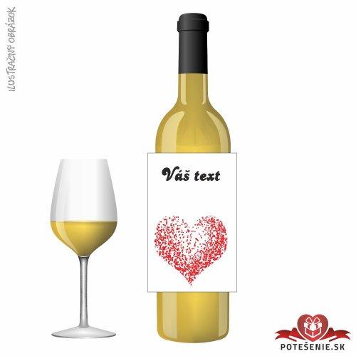 Svadobné víno pre hostí, motív S536