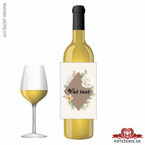 Svadobné víno pre hostí, motív S563