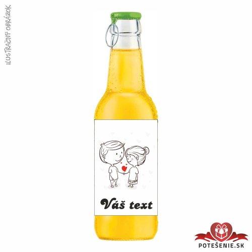 Svadobný ovocný nápoj pre hostí, motív S169 - Svadobný ovocný nápoj