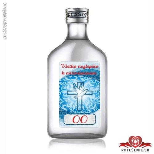 Narodeninová fľaštička s alkoholom, číslo 30, motív 3