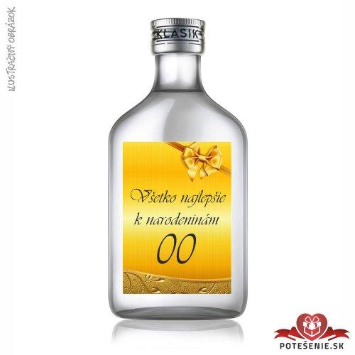 Narodeninová fľaštička s alkoholom, číslo 35, motív 2 - Fľaštičky s číslom veľké
