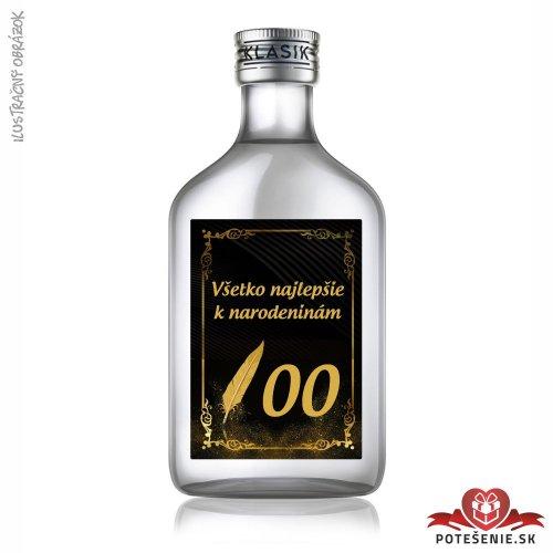 Narodeninová fľaštička s alkoholom, číslo 40, motív 2