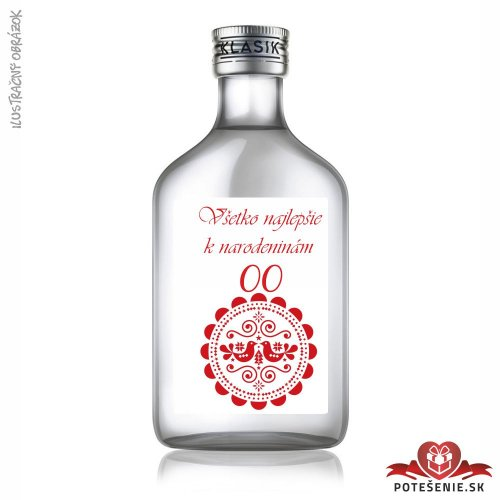 Narodeninová fľaštička s alkoholom, číslo 45, motív 1 - Fľaštičky s číslom veľké