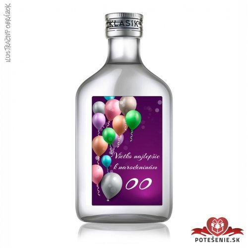 Narodeninová fľaštička s alkoholom, číslo 55, motív 3 - Fľaštičky s číslom veľké