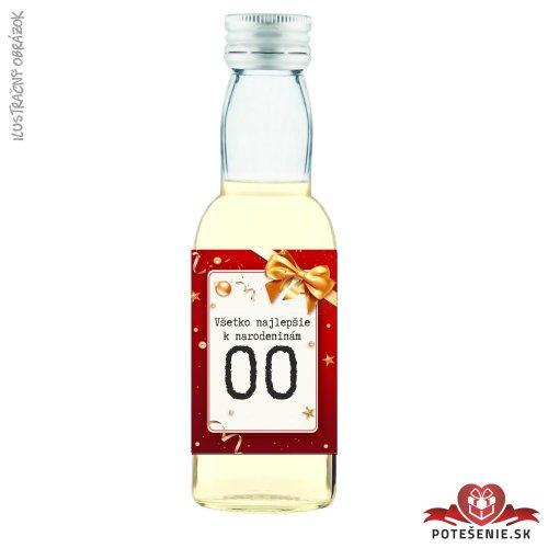 Narodeninová fľaštička s alkoholom, číslo 18, motív 2
