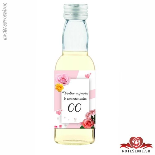 Narodeninová fľaštička s alkoholom, číslo 18, motív 1