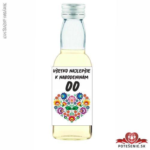 Narodeninová fľaštička s alkoholom, číslo 20, motív 4