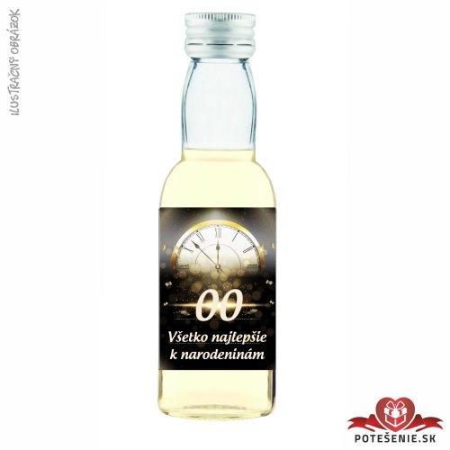 Narodeninová fľaštička s alkoholom, číslo 30, motív 1