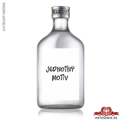 Svadobná fľaštička s alkoholom, jednotný motív - Svadba