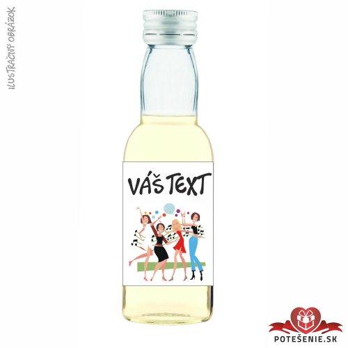 Fľaštička s alkoholom na rozlúčku so slobodou, motív R015