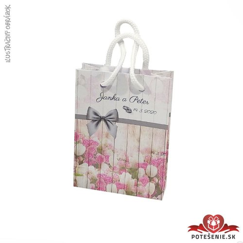 Taška na darček pre svadobných hostí, motív T045