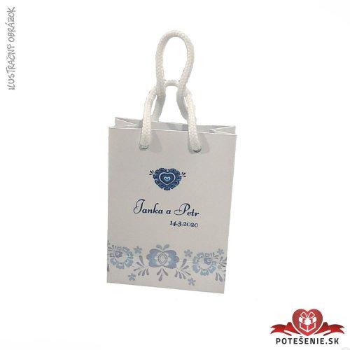 Taška na darček pre svadobných hostí, motív T052