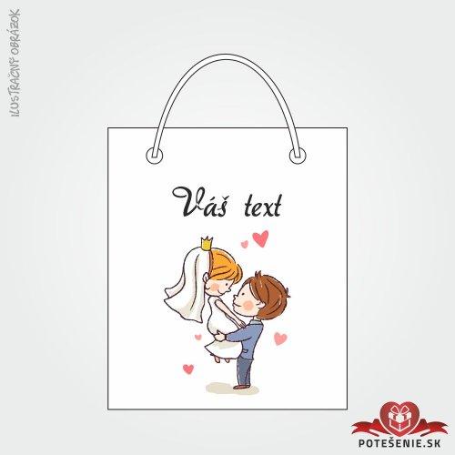 Taška na darček pre svadobných hostí, motív T062