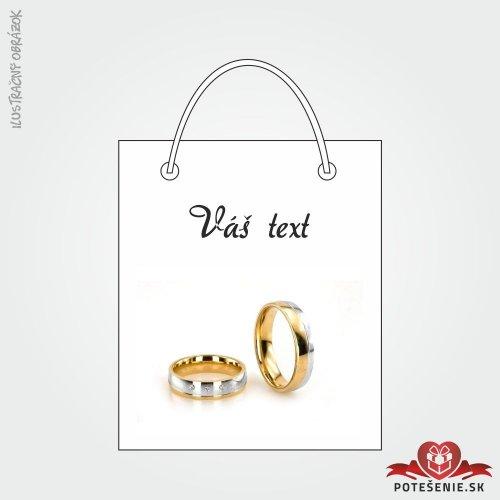 Taška na darček pre svadobných hostí, motív T088