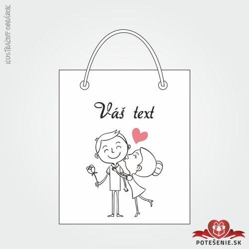 Taška na darček pre svadobných hostí, motív T092