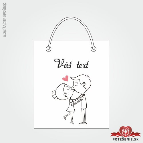 Taška na darček pre svadobných hostí, motív T102